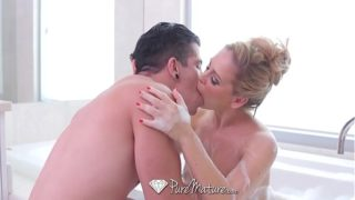 Puremature Busty Milf Cherie Deville Fucked With Messy Cream Pie