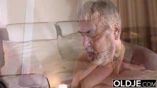 Old Boy Has Great Sex With His Younger Fiance in the Morning