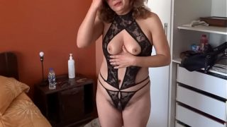 Ardientes 69 – My Wife Showing Off in Lingerie